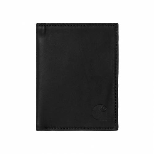 Carhartt Leather Fold Wallet - Leather Black