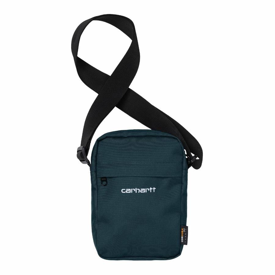 Carhartt Payton Shoulder Bag - Deep Lagoon / White
