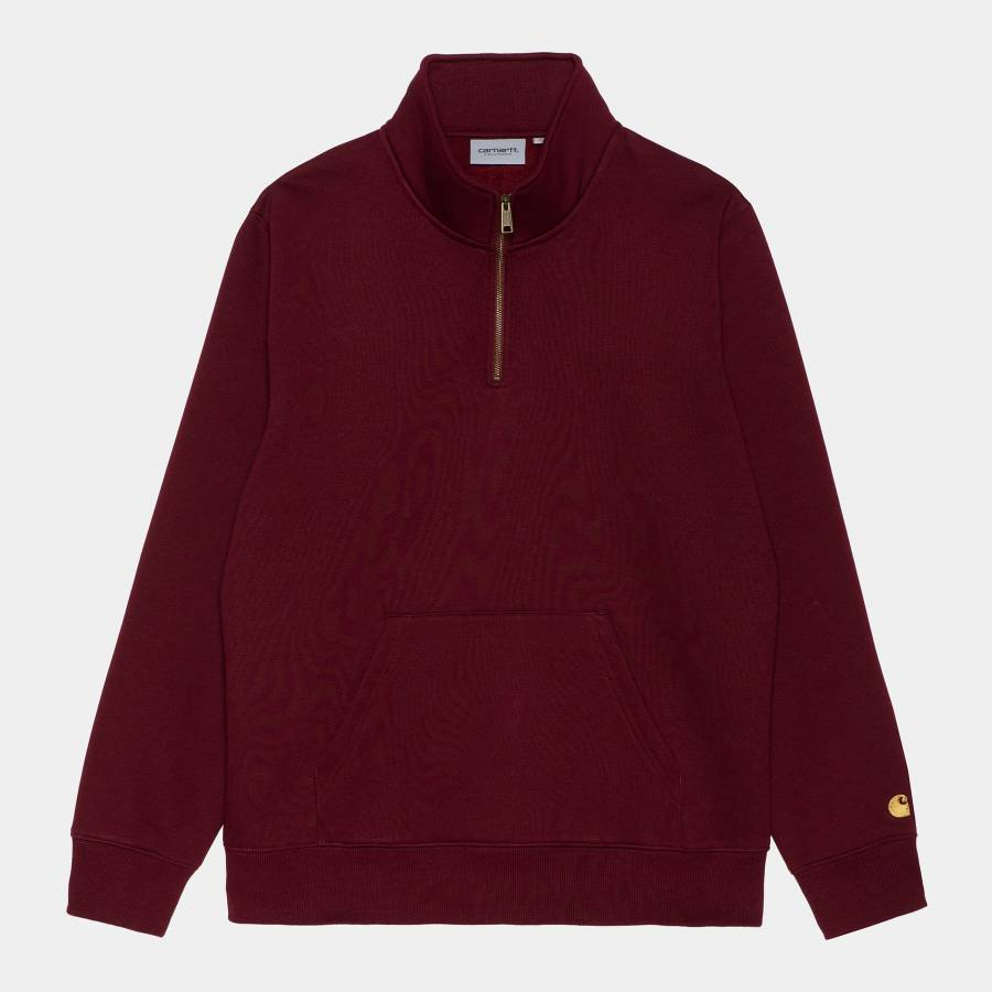 Carhartt Chase Neck Zip Sweatshirt - Jam / Gold