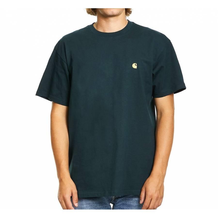 Carhartt S/S Chase T-shirt - Frasier / Gold