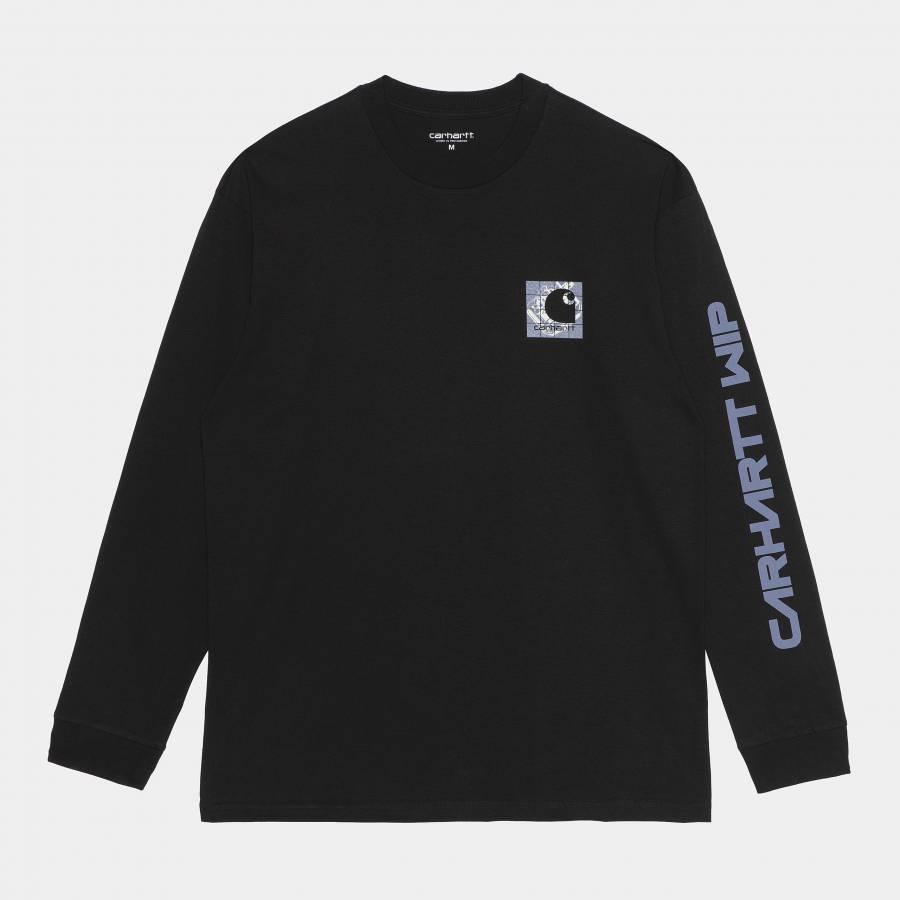 Carhartt L/S Grid C T-Shirt - Black