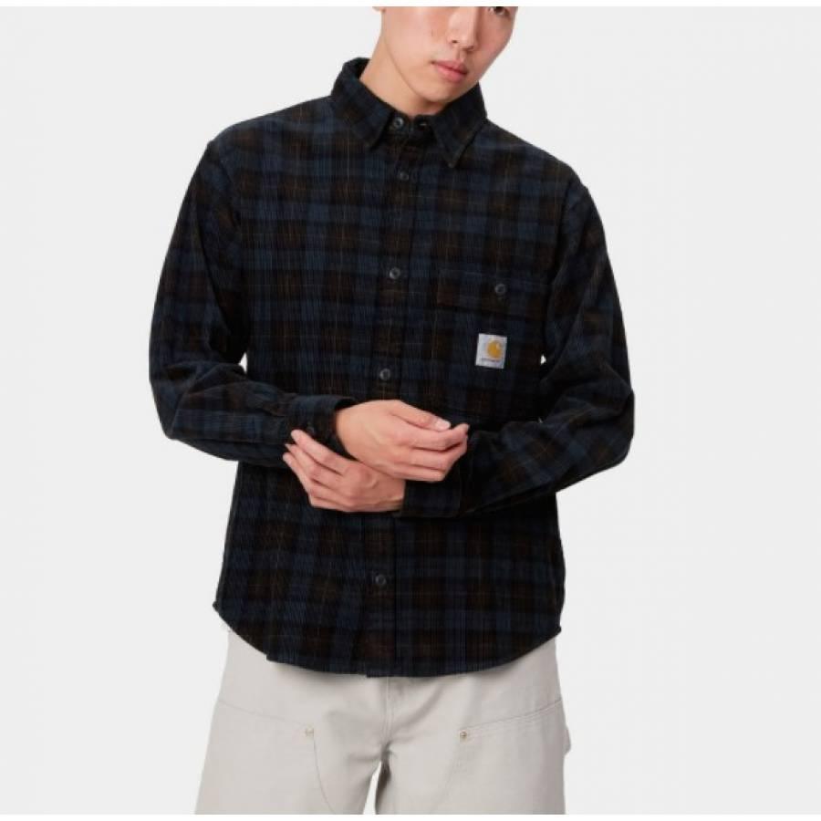 Carhartt L/S Flint Shirt - Breck Check Print / Tob...