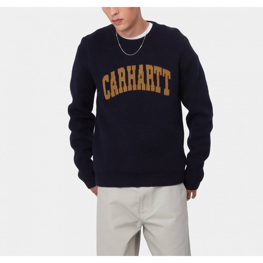 Carhartt University Script Sweater - Dark Navy / H...