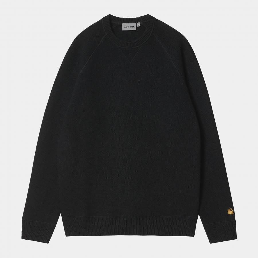 Carhartt Chase Sweater - Black / Gold