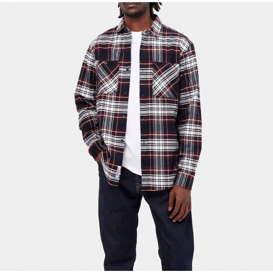 Carhartt L/S Dunbar Shirt - Dunbar Check / Wine