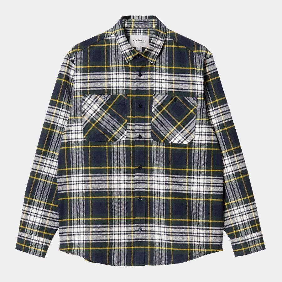 Carhartt L/S Dunbar Shirt - Dunbar Check / Grove
