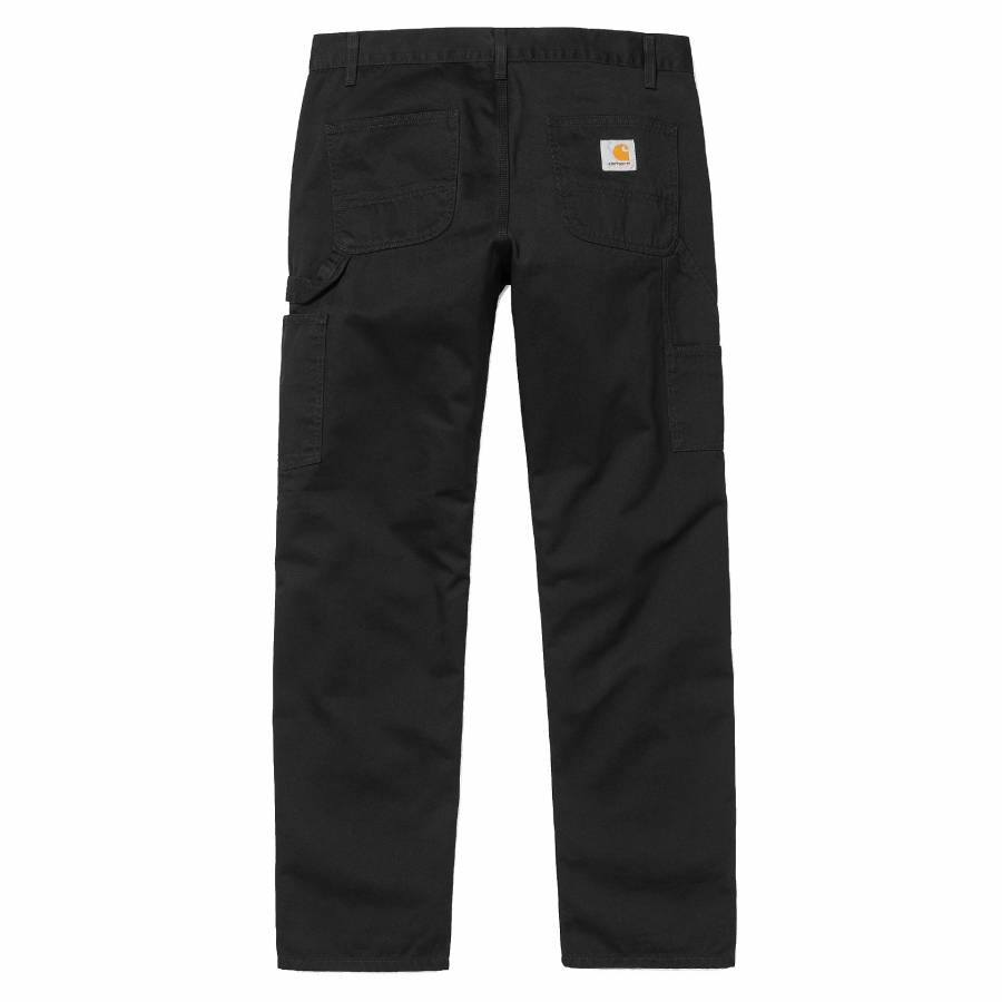 Carhartt Ruck Single Knee Pant - Black Stone Washe...