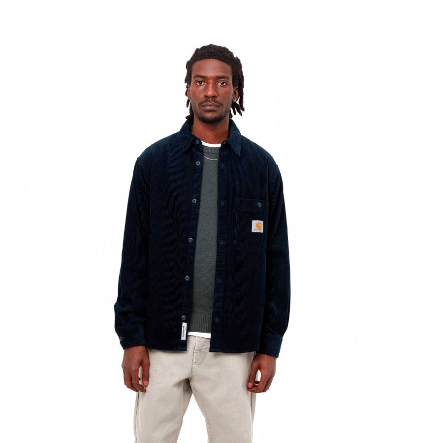 Carhartt L/S Flint Shirt - Astro ( rinsed )