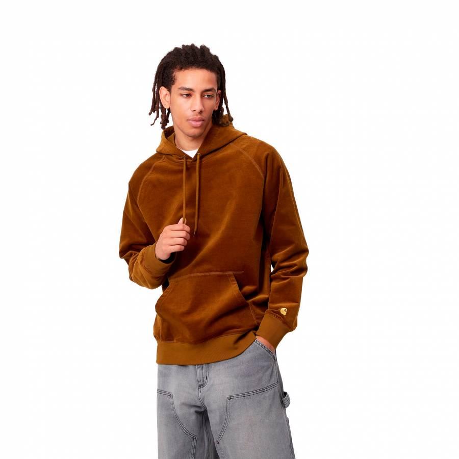 Carhartt Hooded Cord Sweatshirt - Tawny / Gold