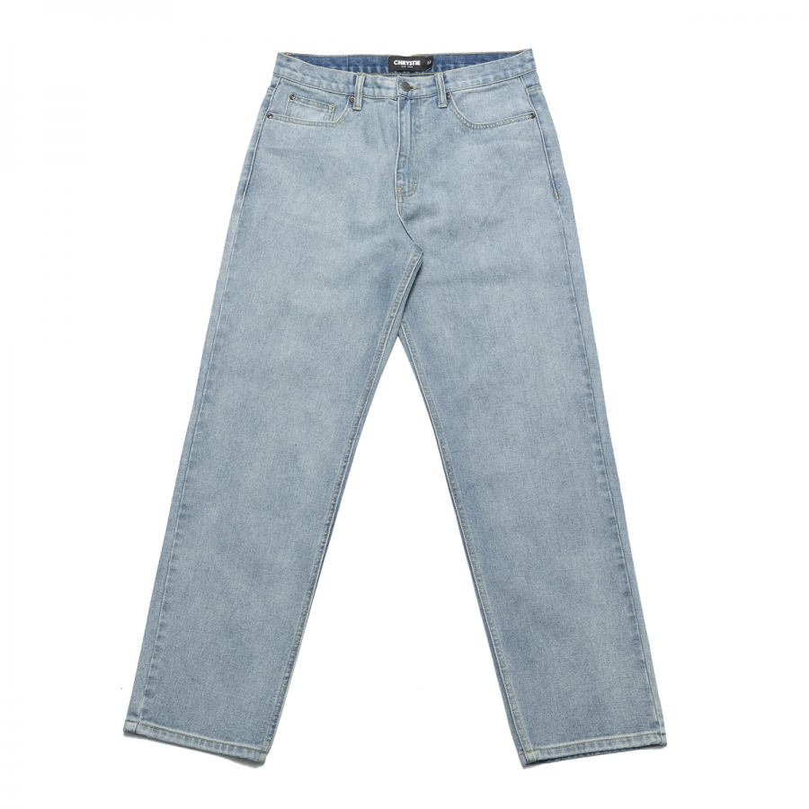 Chrystie Relaxed Fit Denim Pants - Washed Blue