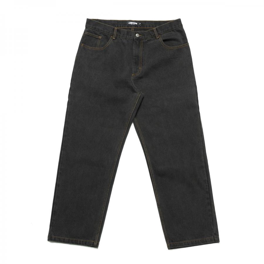 Chrystie Baggy Fit Denim Pants - Washed Black
