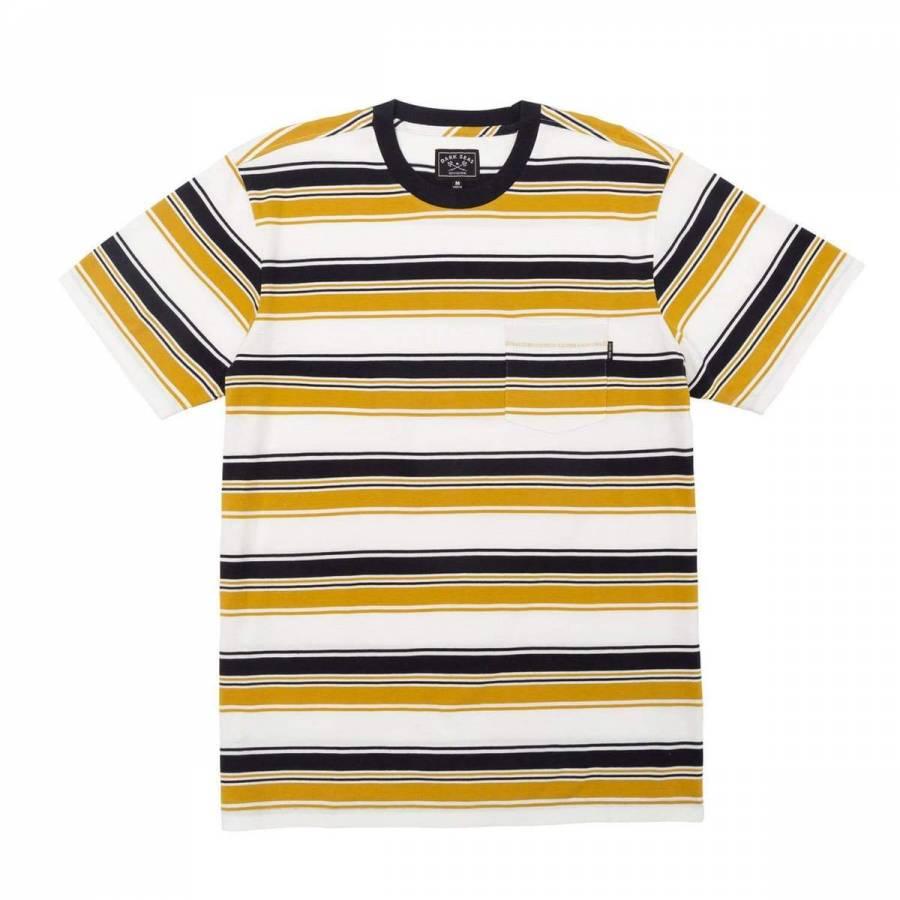Dark Seas Ferry Knit T-shirt - Navy/Gold
