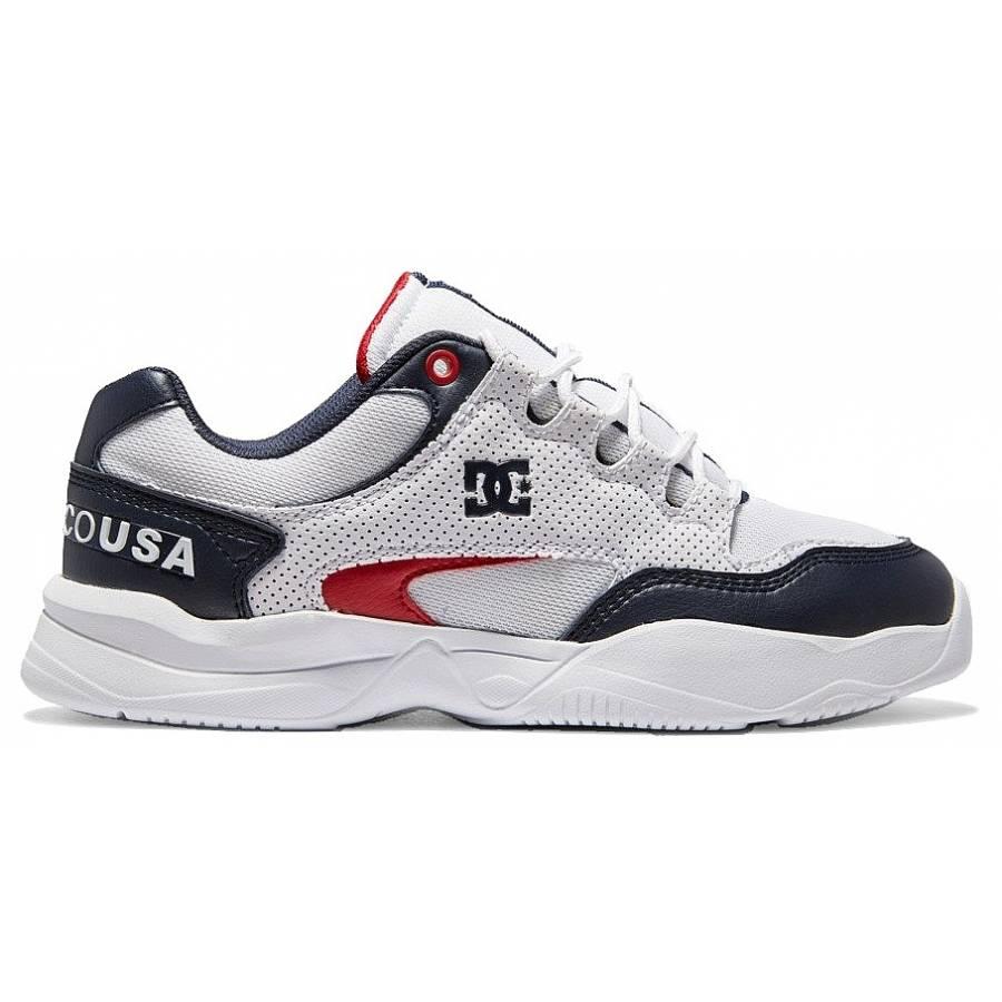 Dc Shoes Decel Shoes - White / Red / Blue