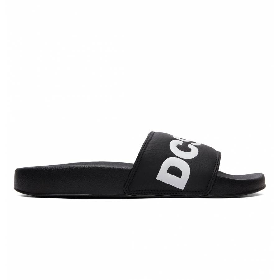 DC Shoes Slide SE Slippers - Black / White