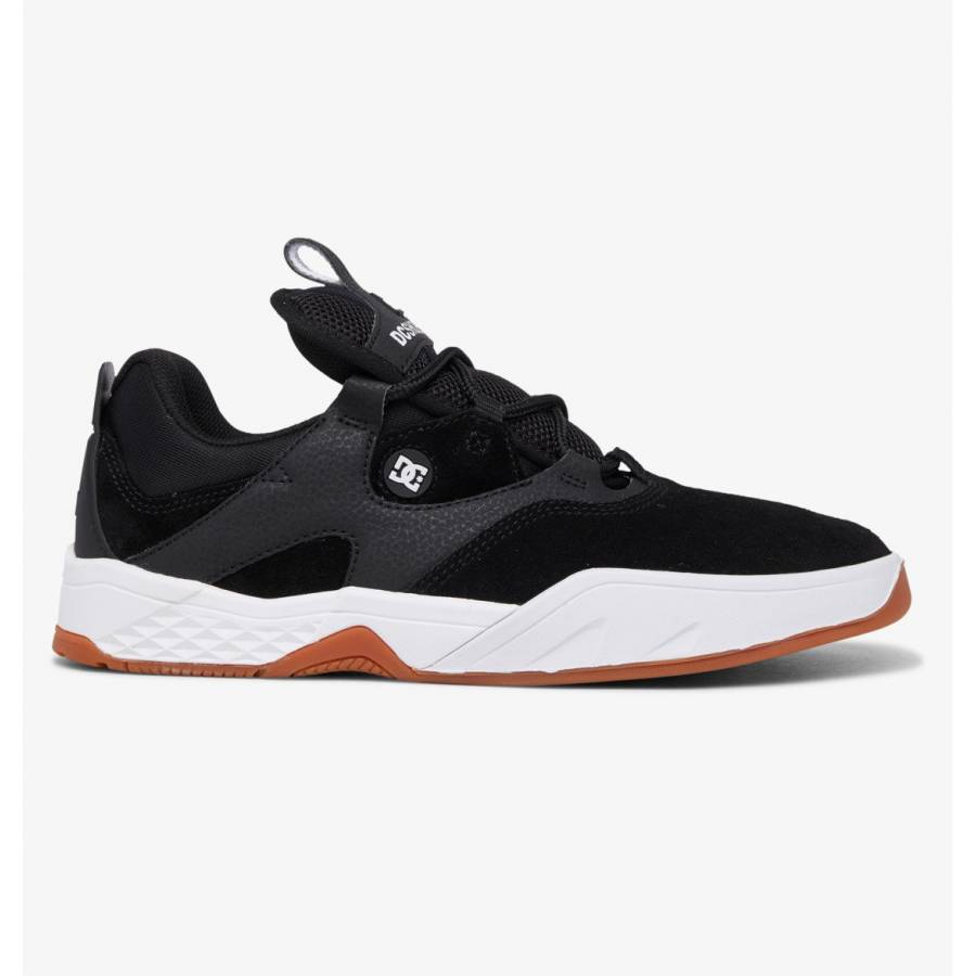 DC Shoes Kalis S Leather Skate Shoes - Black / Whi...