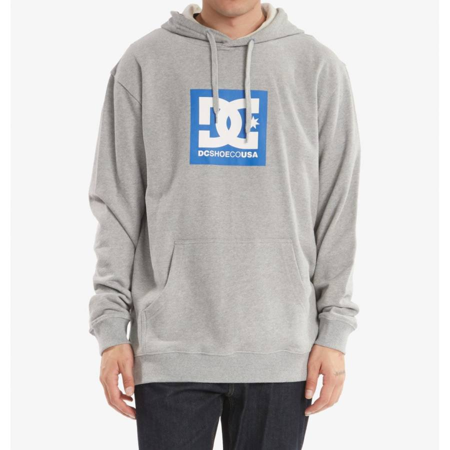Dc Shoes Square Hoodie - Heather Grey