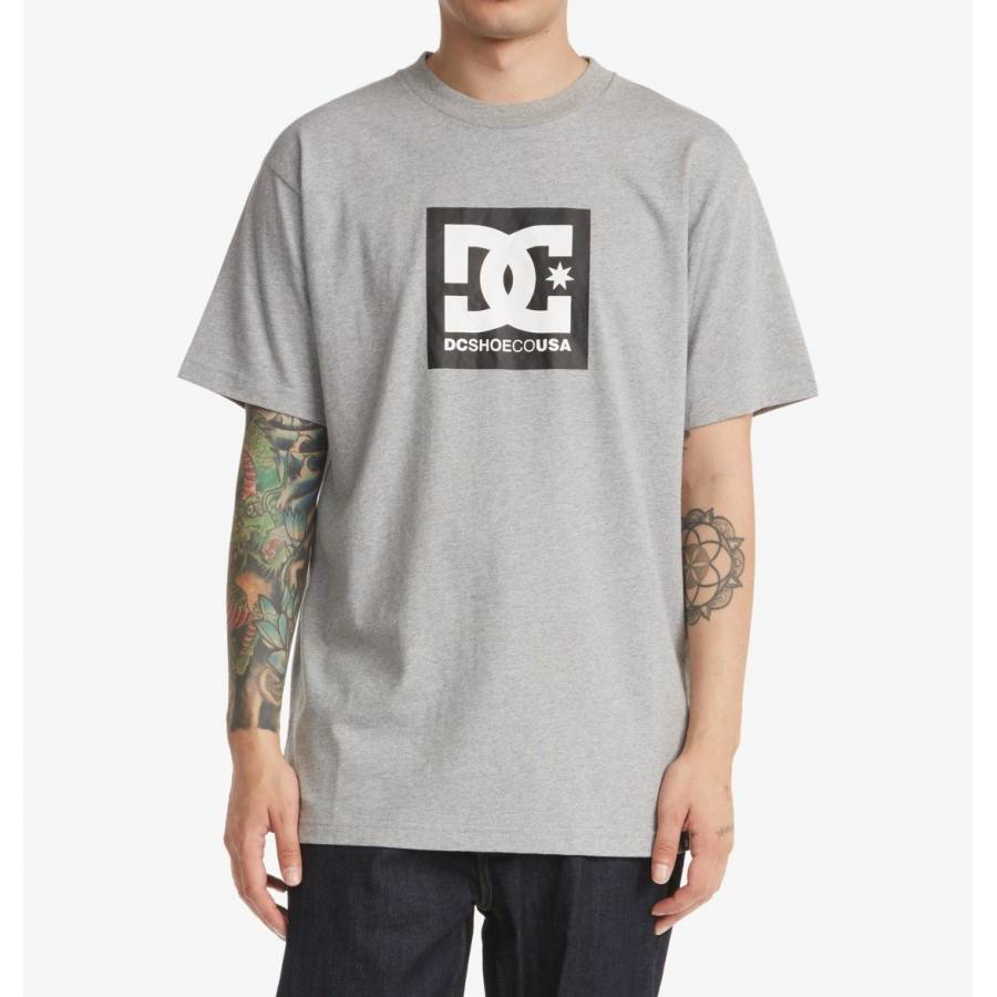 Dc Shoes Square Star T-shirt -Heather Grey