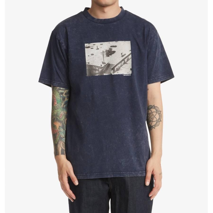 Dc Shoes Blabac T-shirt - Navy Blazer Acid