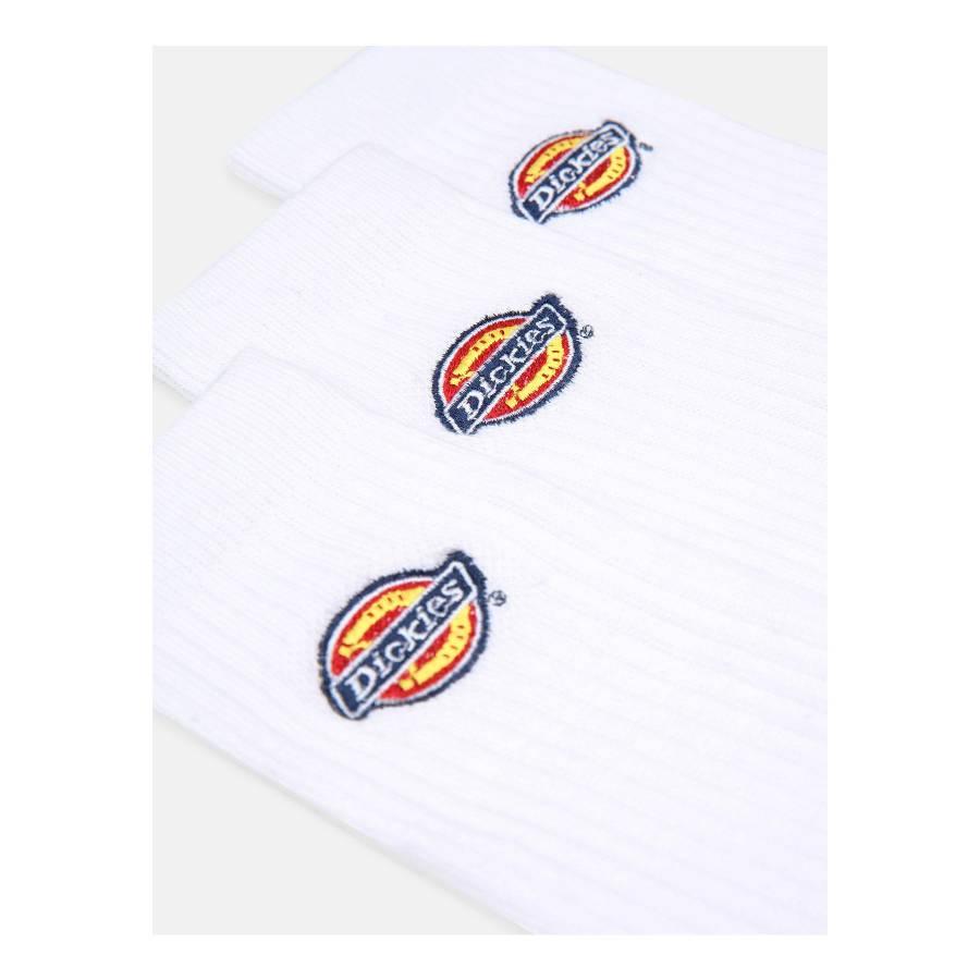 Dickies Valley Grove Unisex Logo Socks - White