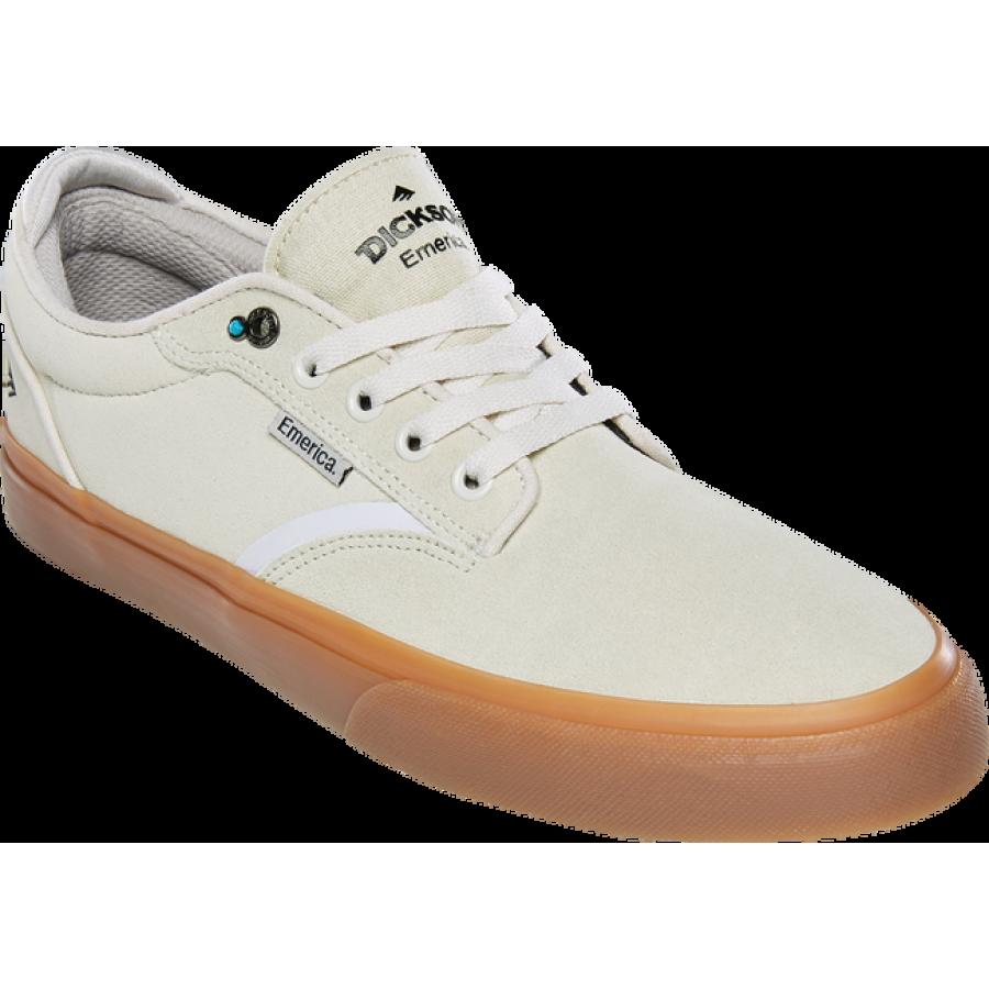 Emerica Dickson Shoes - White/Gum