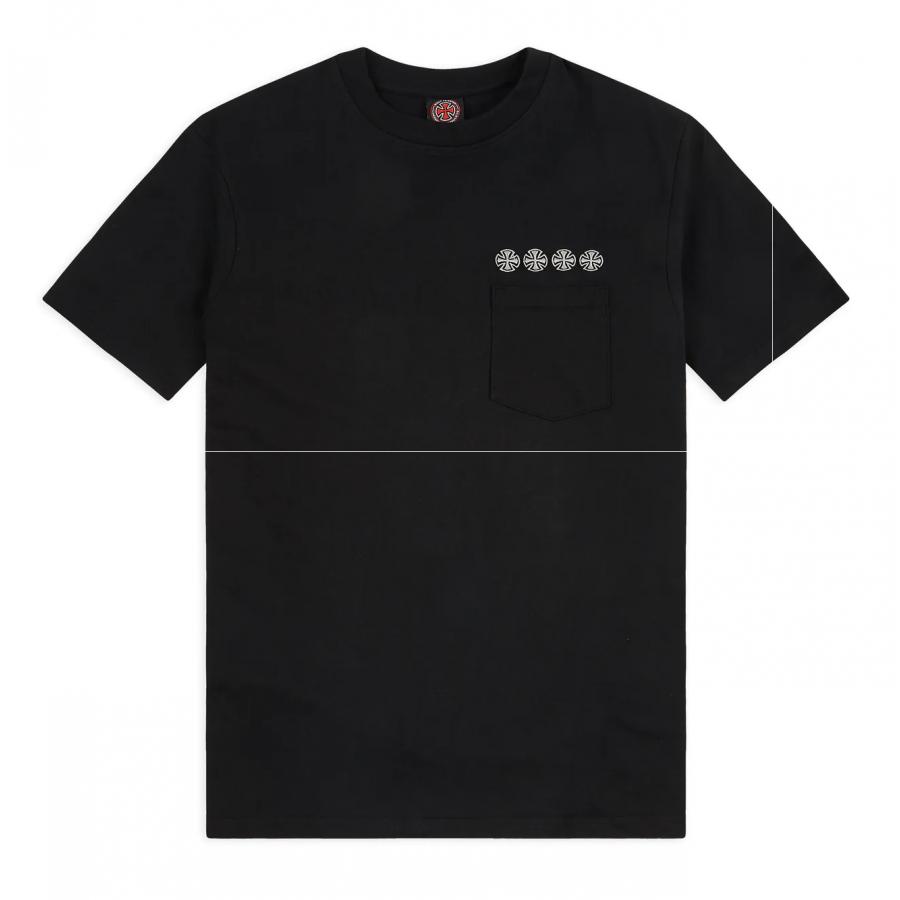 Independent Chain Cross Pocket T-shirt - Black