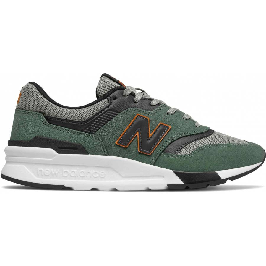 New Balance 997 Shoes - Green / Black / White