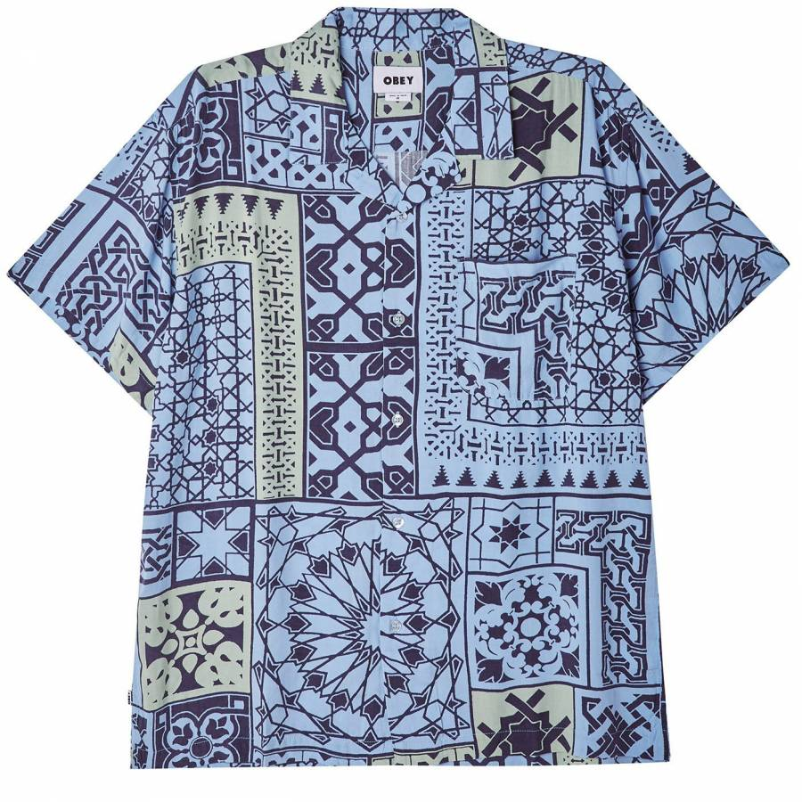 Obey Pathos SS Shirt - Navy Multi