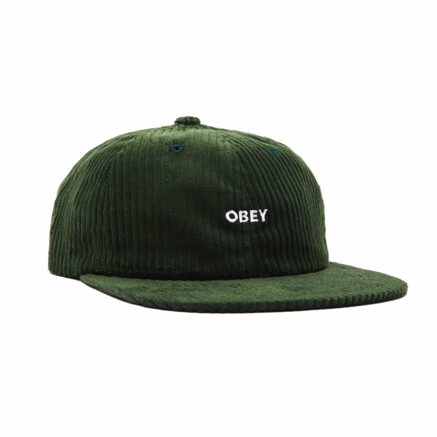 Obey Bold Cord 6 Strapback - Emerald