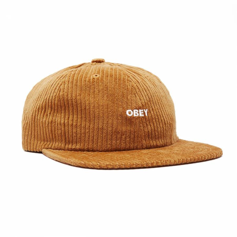 Obey Bold Cord 6 Strapback - Khaki