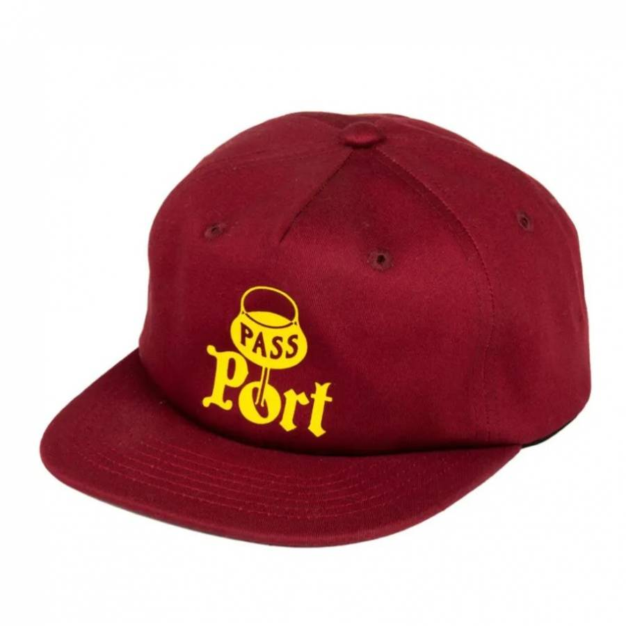 Pass Port Port 5 Panel Cap - Maroon