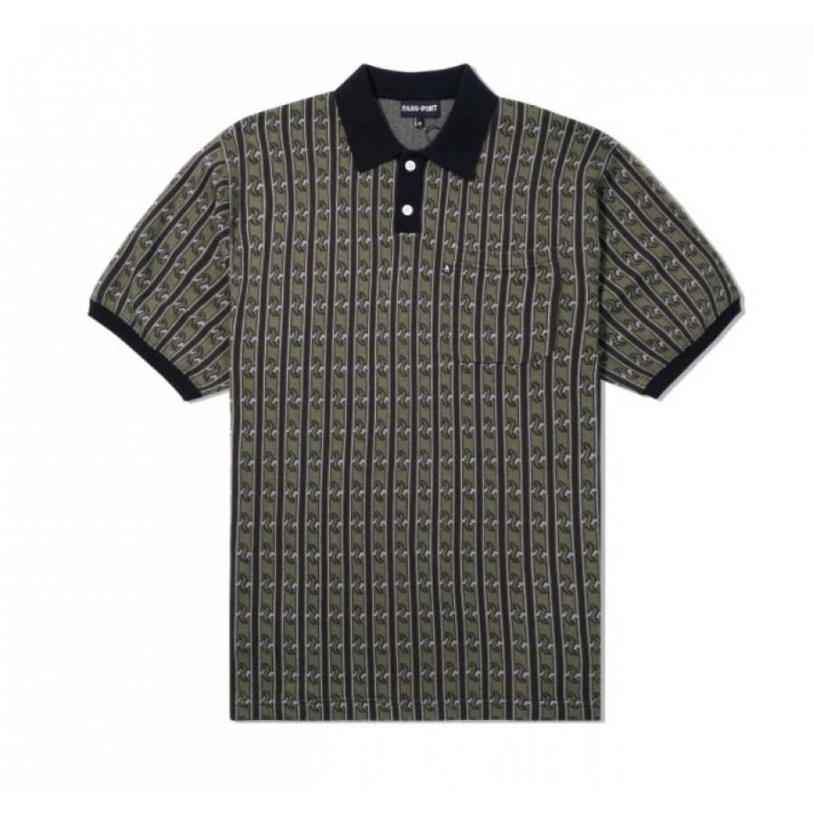 Pass Port Tilde Knitted Polo Shirt - Green