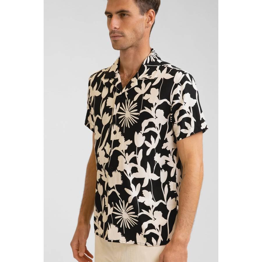 Rhythm Melrose Linen S/S Shirt - Black