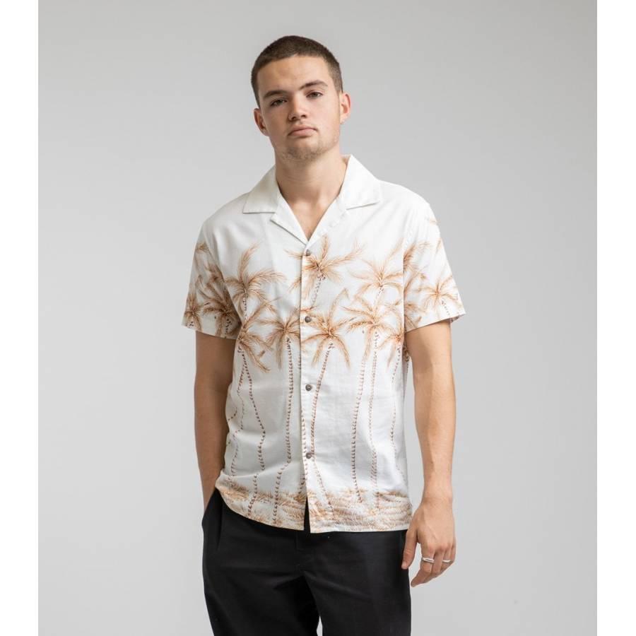 Rhythm Palm Bay Ss Shirt - White