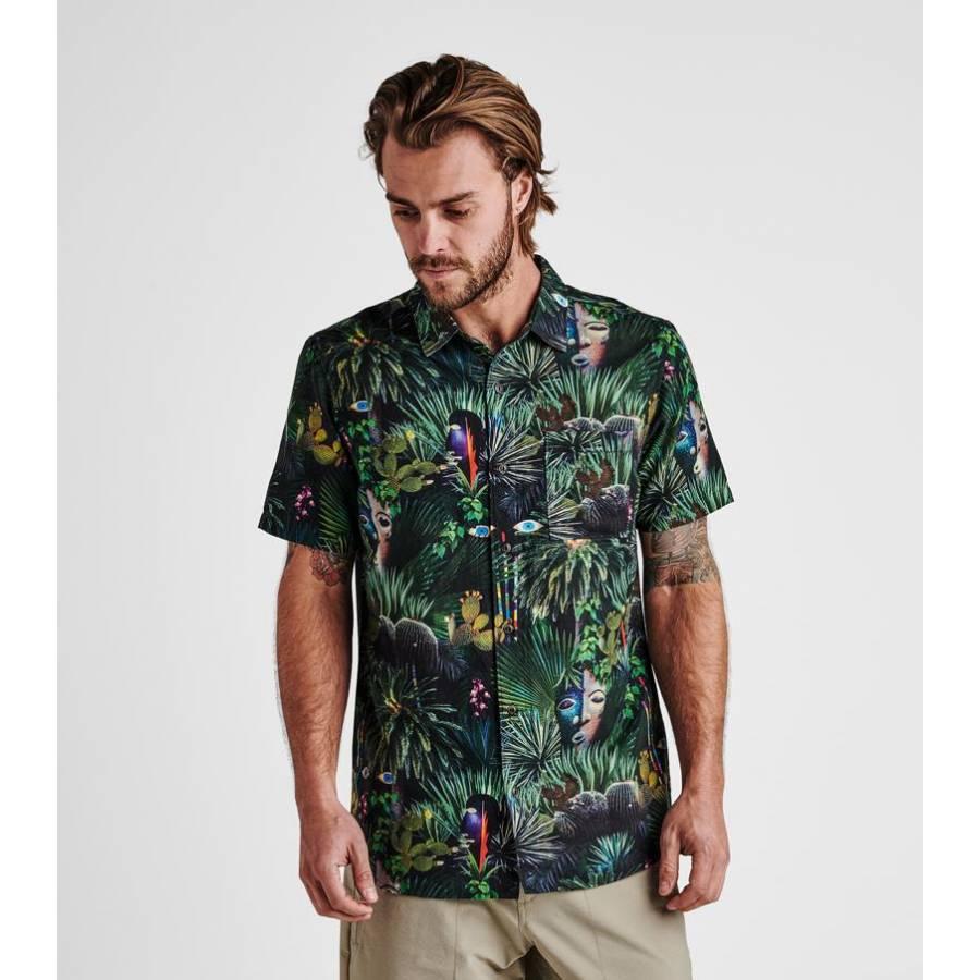 Roark Jardim Oasis Organic Cotton Button Up Shirt ...