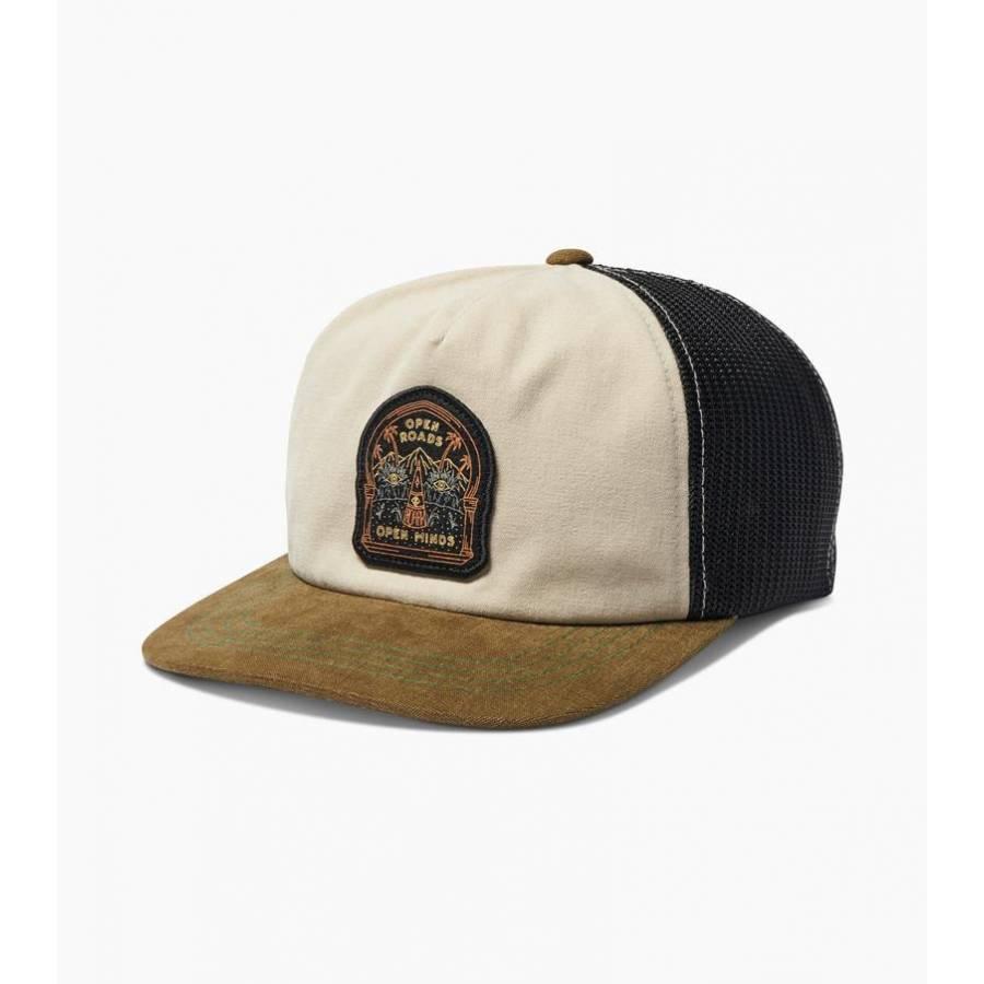 Roark Open Trucker Snapback Hat - Off White