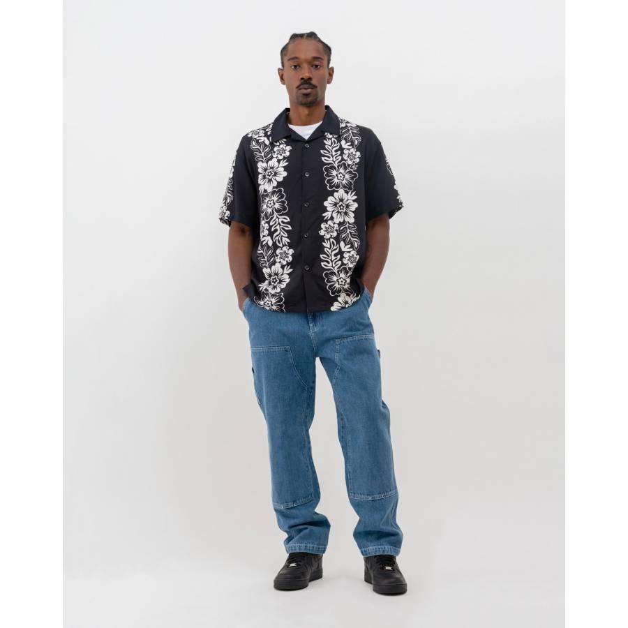 Stussy Hawaiian Pattern Shirt - Black