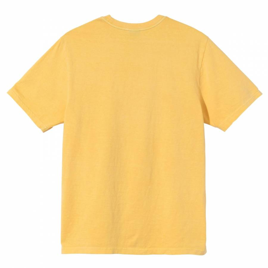 Stussy Surfman Pigment Dyed Tee - Yellow