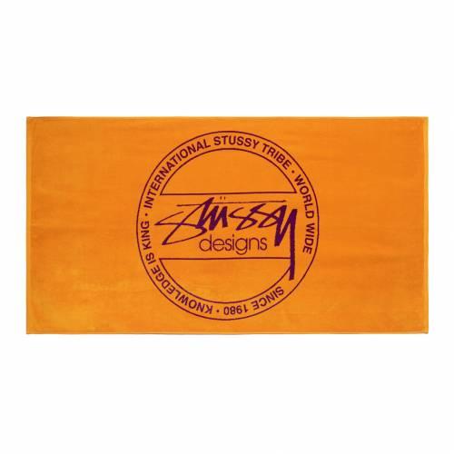 Stussy Dot Jacquard Towel - Orange