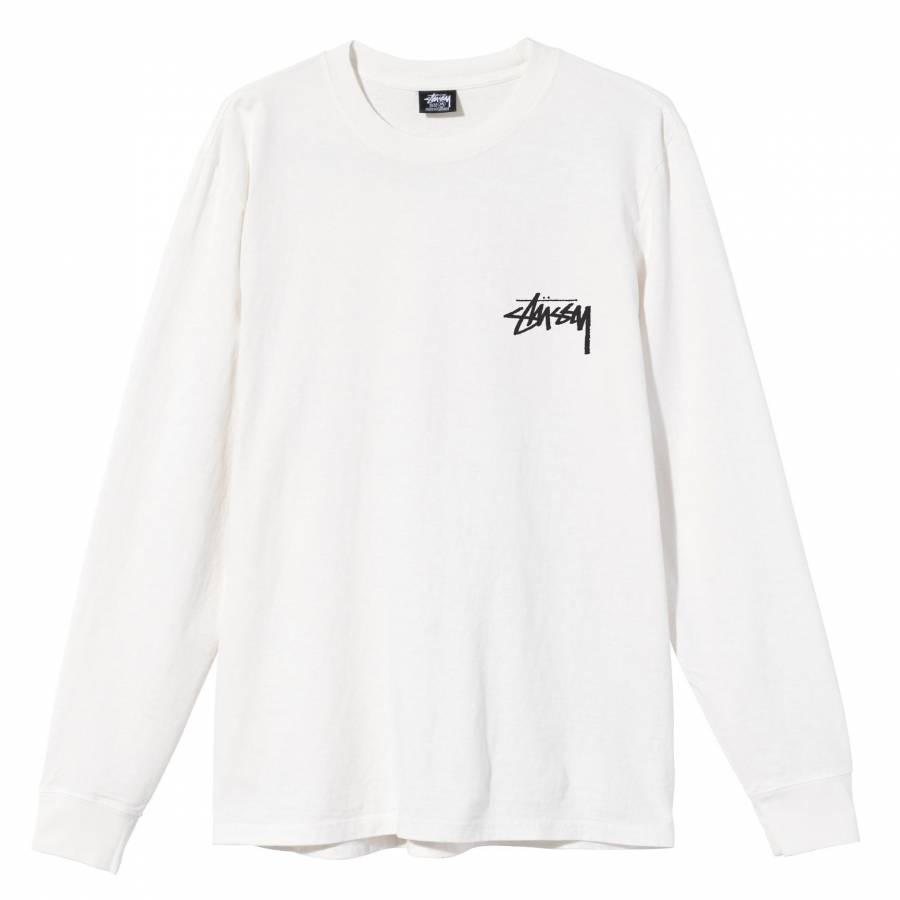 Stussy Spring Weeds Pigment Dyed Ls Tee - Natural