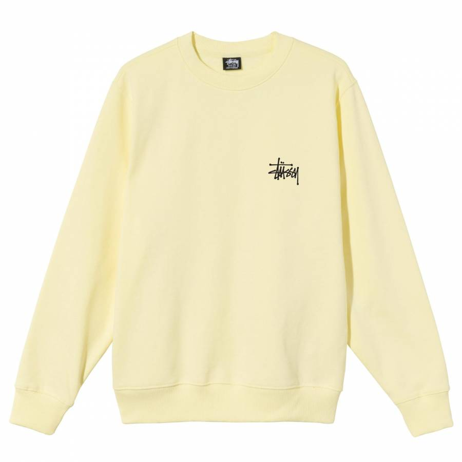 Stussy Basic Crew - Pale Yellow