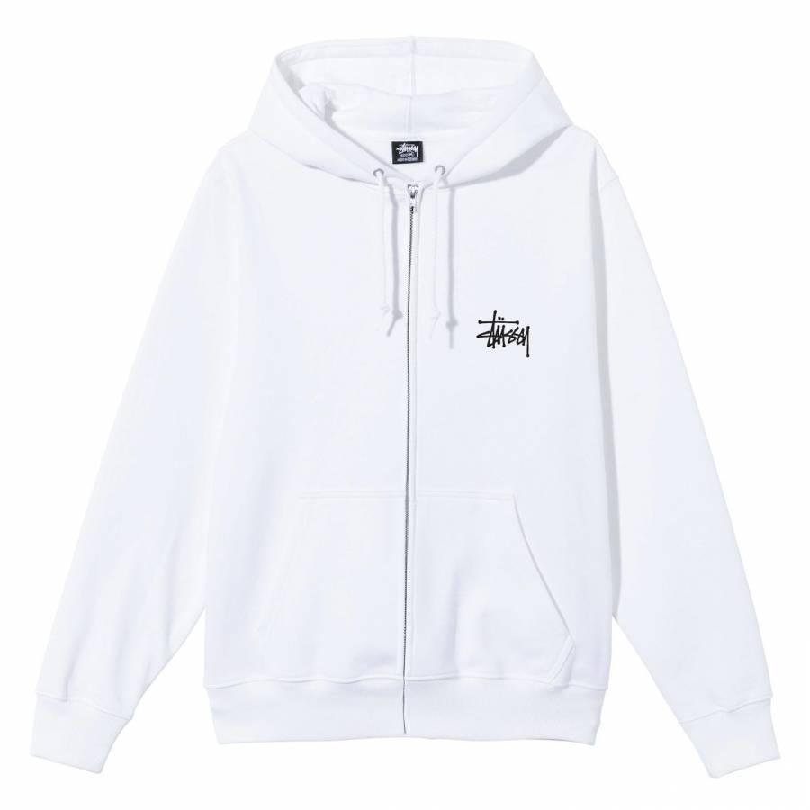 Stussy Basic Zip Hood Jacket - White