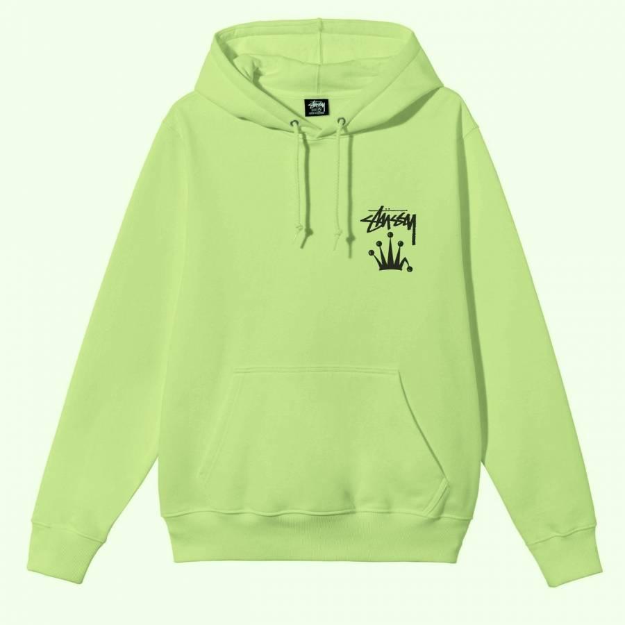 Stussy Stock Crown Hooded Sweatshirt - Tea