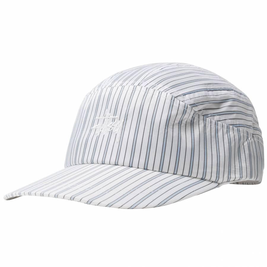 Stussy Shirting Stripe Runner Cap - White