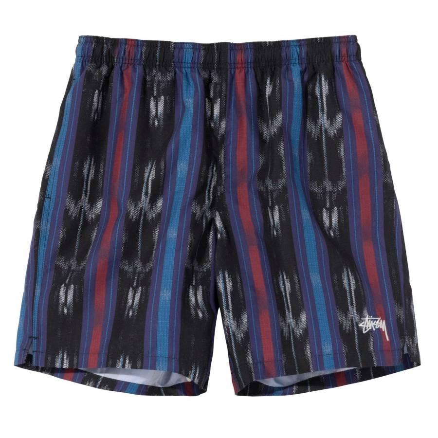 Stussy Ikat Stripe Water Short - Black