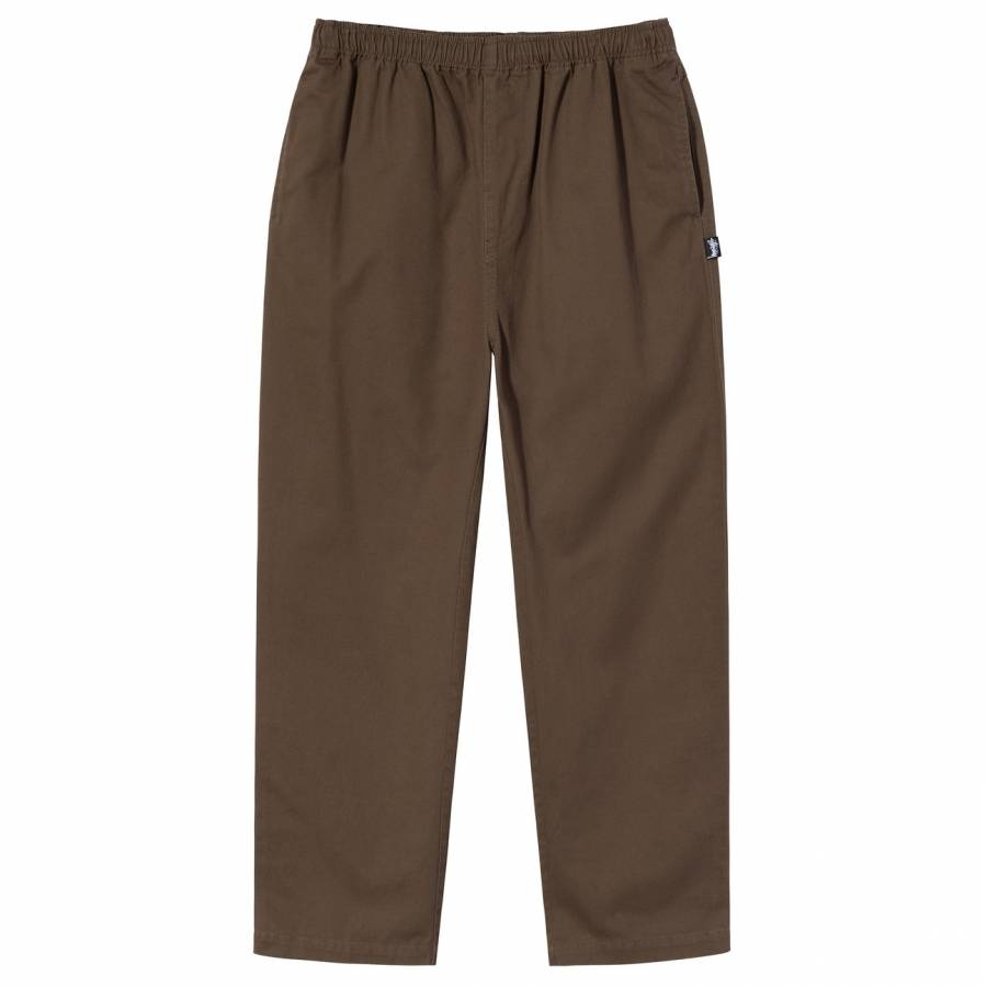 Stussy Brushed Beach Pant - Brown