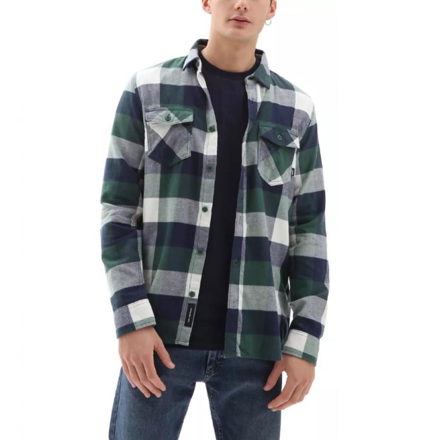 Vans Box Flannel Shirt - Pomegranate / Nautical Bl...