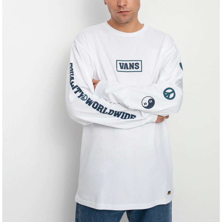 Vans Take a Stand Long Sleeve Tee - White