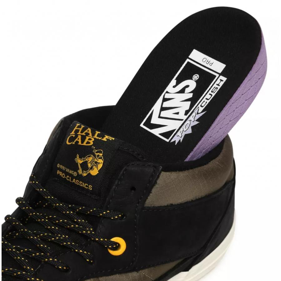 Vans Half Cab Pro Shoes - Black / Military