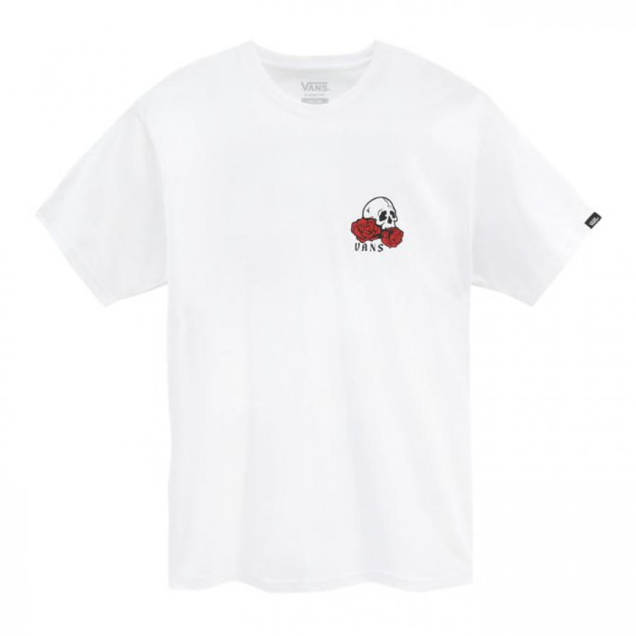 Vans T-Shirt Rose Bed - White