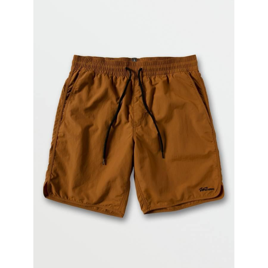 Volcom Eddison Elastic Waist Shorts - Golden Brown...